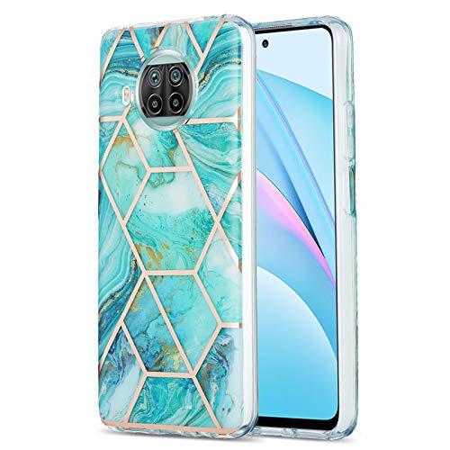 Preisvergleich Produktbild TPU Hülle IMD Marmorfür Xiaomi Mi 10T Lite 5G -Blau