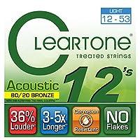 Cleartone 80/20 BRONZE アコースティックギター弦 ライトゲージ 012-053 (クリアトーン)