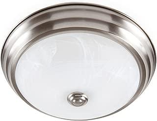 Designers Fountain EVLED502-35-DF Modern Brushed Nickel LED Flush Mount with Alabaster Glass, 11