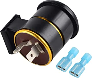 Nicecnc Turn Signal Flasher Relay 6 Volt 2 Prong Replace Honda CL100 C70 CA175 CB100 CB125S,CT90 XL100 CT70 MT125 ST90,XL125/100S XL175 XL185S XL250,Suzuki/Yamaha/Kawasaki (1PCS)