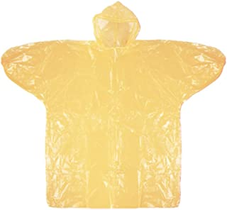 Namsey 【One Pack Rain Poncho, Waterproof Rain Gear with Drawstring Hoods, Lightweight, Emergency Disposable Ponchos for Ad...