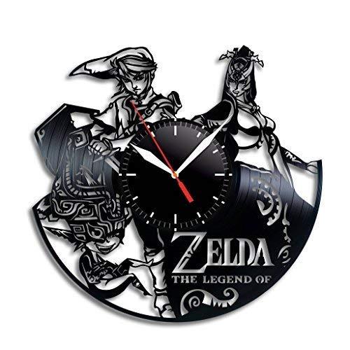 N/Z - Reloj de pared de vinilo de la leyenda de Zelda, diseño de leyenda de Zelda, exquisita decoración del hogar, la leyenda de Zelda es el mejor regalo para cualquier ocasión