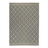 Flair Rugs Florence Alfresco Moretti - Alfombra para interiores y exteriores, polipropileno, Beige / Anthracite, 60 x 230 Cm