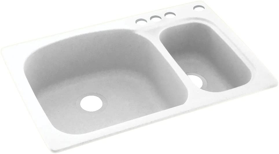 Swanstone KS03322LS.010-4 4-Hole Solid Surface Sink Beauty products Outstanding Kitchen 33
