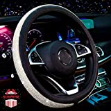 Zadin New Diamond Leather Steering Wheel Cover with Bling Bling...