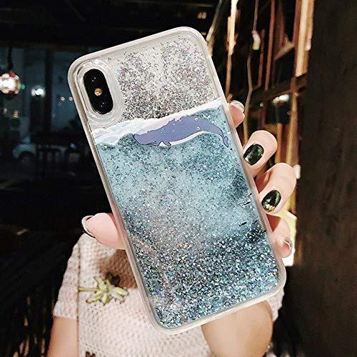 LIUYAWEI para Samsung Galaxy S10 S8 S9 Plus S7 S6 Edge Note 9 8 Estuche con Purpurina de Arenas movedizas para A50 A70 A6 A8 A7 2018 J3 J5 J7 A3 A5 2017 Cubierta, Ballena Azul, para A50