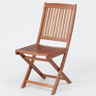 木製ガーデンチェア 2脚セット 81058x2