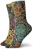 KLING Hombres Mujeres Personalidad Lindo Nuevo Mexicano Calaveras de azúcar Calcetines Calcetines deportivos creativos deportivos ocasionales