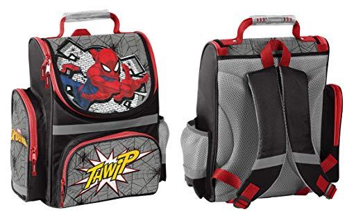 Spiderman Schulranzen Jungen 1 Klasse | Tornister Schulrucksack Schultasche | für Grundschule | super leicht