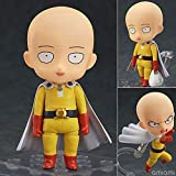 Skwingt ONE Punch-Man Saitama Q Version Nendoroid Interchangeable Face Movable Figure PVC Anime Cartoon Game Character Model Statue Figure Toy Collectibles Decorations Gifts 10cm Boxed
