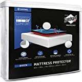 Degrees of Comfort Waterproof Deep Pocket Queen Mattress Protector | Hypoallergenic, Breathable | Premium Fitted Cotton Terry Cover with 3M Scotchgard Stain Release | Urine and Spill Protection
