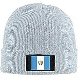 Cálido Unisex Bandera De Guatemala Unisex Cálido Sombrero De Lana De Invierno Gorro De Punto Gorro Calavera