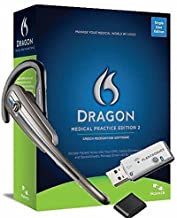 Nuance DMPE-2-CU Dragon Medical Practice Edition 2, Wireless - 1 License Retail Box