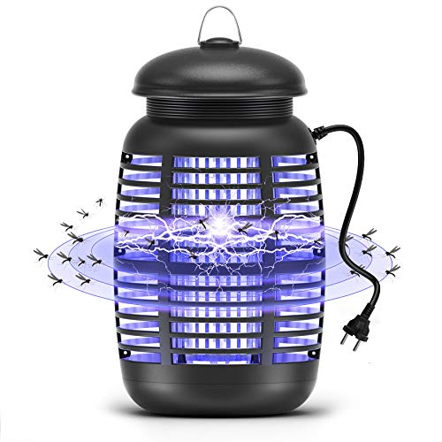 Mksutary Lámpara Antimosquitos Eléctrico UV 15W, Lámpara LED Anti Mosquito Matamoscas Trampa...