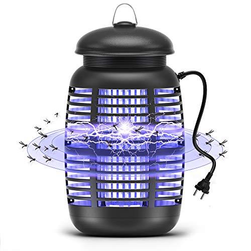 Mksutary Lámpara Antimosquitos Eléctrico UV 15W, Lámpara LED Anti Mosquito Matamoscas Trampa Repelente Matar de Moscas Polillas Insectos, Area efectiva 80㎡ Interior y Jardin