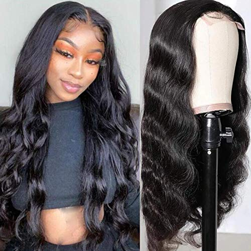 Lace Front Wigs Human Hair Pre Plucked Body Wave Lace Closure Wigs Human Hair Glueless Body Wave Wigs for Women 150% Density(28 Inch Body Wave Human Hair Wigs)
