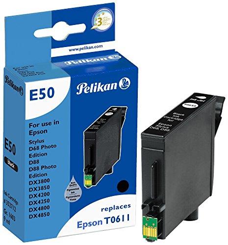 Pelikan 352712 - Cartucho de Tinta Epson Stylus D68 - T0611 - Negro 🔥