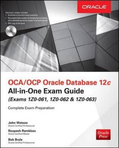 OCA/OCP Oracle Database 12c all-in-one exam guide (Exams 1Z0-061, 1Z0-062, & 1Z0-063). Con CD-ROM