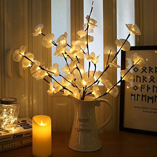 Winnes Lumineux de Branche LED,Branche de Lampe Décoration Lumineuse IP42 Imperméable pour la Luminaires Intérieur Décoration Intérieure (blanc)