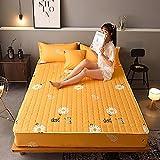 XGguo Protector de colchón, algodón, poliéster, Sábana Gruesa de una Sola Pieza a Prueba de Polvo -3_1.2 * 2.0m