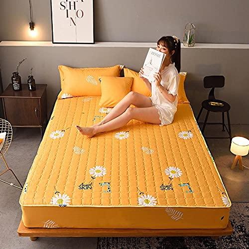 XGguo Protector de colchón, algodón, poliéster, Sábana Gruesa de una Sola Pieza a Prueba de Polvo -3_1.8 * 2.0m