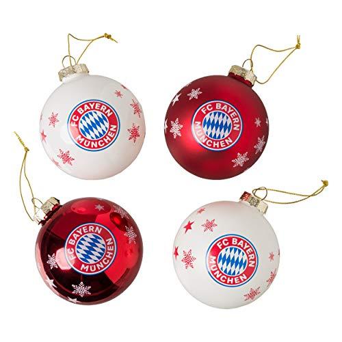 FC Bayern Weihnachtskugeln 4er Set