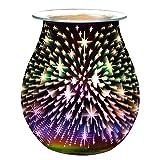 DHFD Bruciatore Elettrico a Fusione di Cera, Lampada di Fragranza Elettrica, Lampada Aromatica in Vetro 3D, Diffusore di Aromaterapia 3D, Decorazione Lampada per Aromaterapia