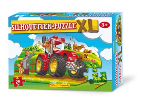 Silhouetten-Puzzle Traktor: Puzzle mit Konturenstanzung, 25 Teile (PestalozziPuzzle)