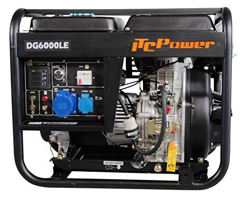 ITCPOWER IT-DG6000LE Generador Diesel, 5500 W, 230 V, negro