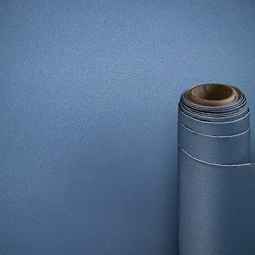 AWNIC Möbelfolie Blau Matt Klebefolie für Küchenschränke Schrankfolien Selbstklebend Küchenfolie Schränke Küche Wasserfest 300x40cm