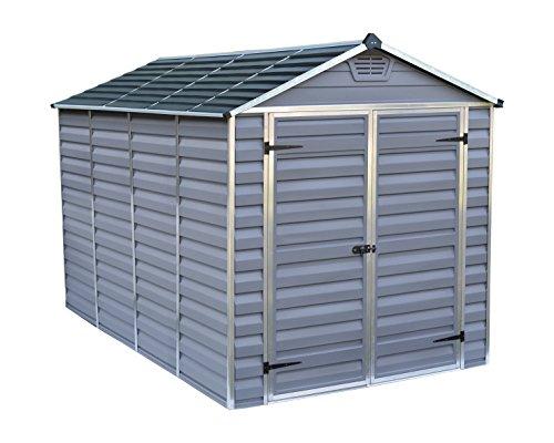 TERRANDO Palram Skylight Shed Gerätehäuser, dunkel grau/anthrazit, 305.5 x 185.5 x 217 cm