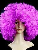 xzl Pelucas de la manera negro peluca afro aficionados bulkness cosplay Navidad Halloween peluca de color púrpura
