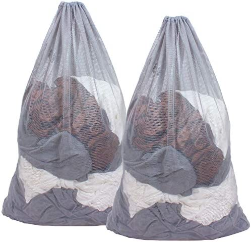 DuomiW Mesh Laundry Bag Heavy Duty Drawstring Bag Factories College Dorm Travel and Apartment product image