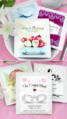 Personalized Tea Favors - Set of 30 (Wedding)