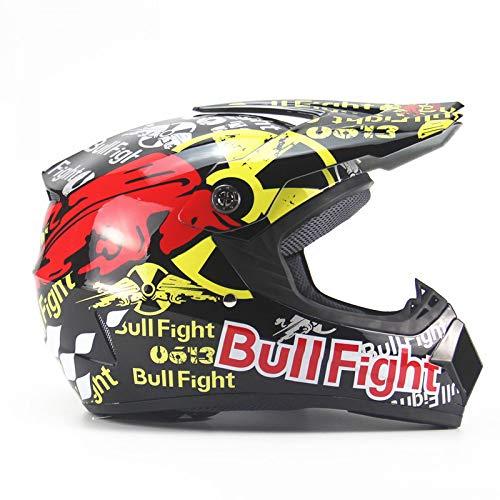 LOLIVEVE personaliteit voor alle seizoenen, motorcrosshelm, voor heren, complete helm voor mountainbike, snelheid Dh, rood