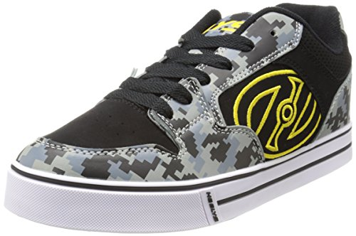 Vulcanized style outsole,Synthetic nubuck upper,Large embroidered logo on quarter,Low profile wheels