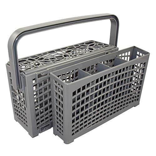 Der Original 2 in 1 universal Besteckkorb für ALLE Spülmaschinen | stabile Steckverbindung | teilbar | variabel platzierbar | 23 * 8,5+4,5 * 13,5cm | hitzebeständiger verstärkter Kunststoff