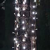 "Trunk Lights - StretchNet Pro Expandable Christmas Net Lights, Tree Wrap Lights - Trunk Wrap Lights, Column Christmas Lights - Column Wrap Lights (50 Lights, 20"" x 45"" Net, Cool White Trunk Wrap Lights, Brown Wire)"