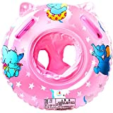 StillCool Baby Pool Float Infant Swimming Ring with Canopy Shade for 1 to 3 Years Old Kids (Light Pink)