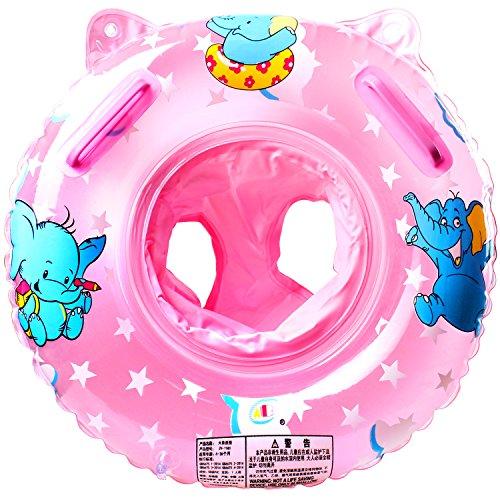 Schwimmring Baby Schwimmsitz Baby Schwimmhilfe mit Schwimmsitz PVC für Kleinkind Schwimmhilfe Spielzeug 6 Monate bis 36 Monate (Rosa1)