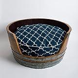 Wine Barrel Dog Bed, Choice of Cushion