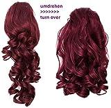 PRETTYSHOP 2 IN 1 Haarteil Pferdeschwanz Zopf Haarverlängerung Haarverdichtung ca 40cm und 50 cm rot #118 H18-2