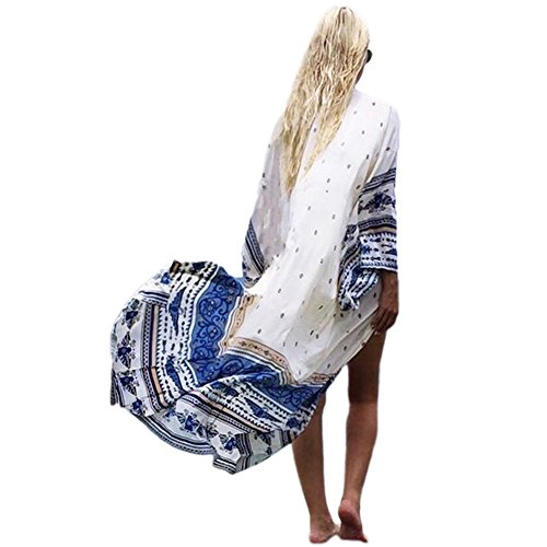 JLTPH Kimono Cardigan Cover Up Damen Sommer Boho Chiffon Bikini Cover up