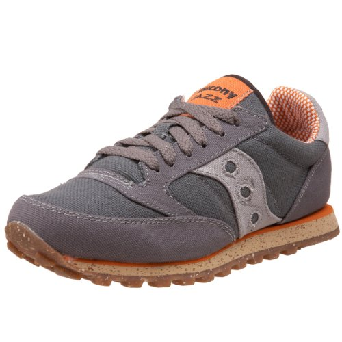 Saucony Originals Women's Jazz Lowpro Vegan-w, Charcoal/Orange, 5.5 M US