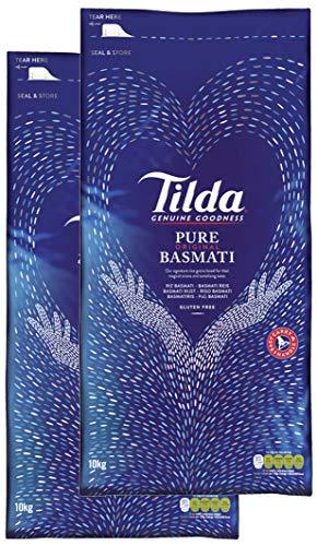 Tilda Pure Original Basmati Rice Reis, Doppelpack (2x10kg)