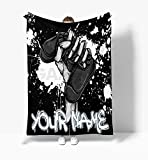 Personalized Customized Fleece Blanket - Game Gaming Controller Custom Name Size  30x40   50x60   60x80  Best for Home Bed Sofa Decorations and Gift