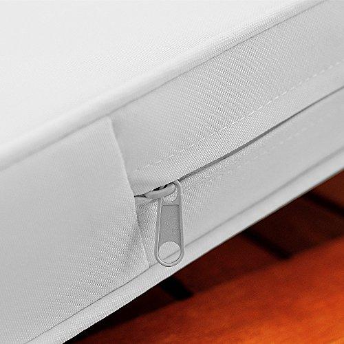 Gartenbank 2in1 ✔ mit Auflagenbox ✔ inkl Sitzauflage 120cm – Sitzbank Holzbank Parkbank Bank - 6
