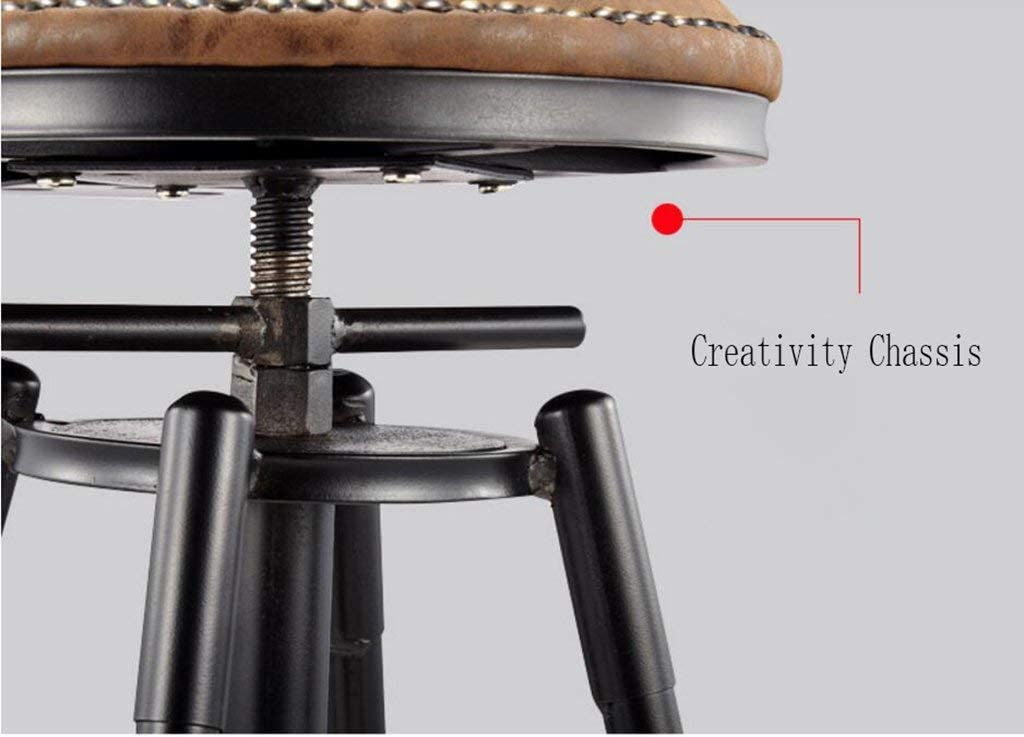 LUO Chaise de bar, Extérieur en similicuir, Dossier Repose-pieds Cuisine Tabouret de bar,D D