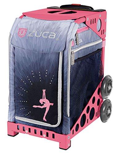 ZÜCA - Borsa sportiva Ice Dreamz Lux con telaio rosa (ruote lampeggianti)