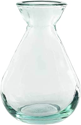 Couronne Company, Clear, G5423 Couronne Teardrop Recycled Glass Vase, 5.1oz, 1 Piece, 5.1 oz